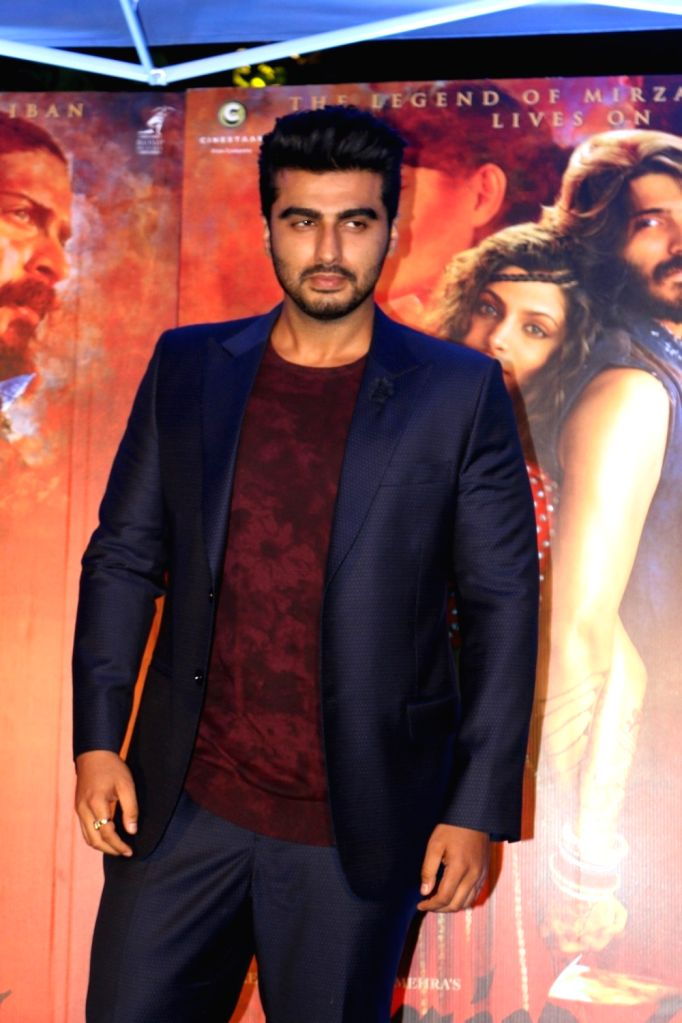 Actor Arjun Kapoor during the red carpet for get together of film Mirzya in Mumbai on Sept 26, 2016. - Arjun Kapoor