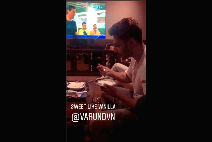 "Actor Arjun Kapoor has tagged his close friend and actor Varun Dhawan calling him ""sweet like vanilla"". On Tuesday night, Arjun shared a video on his Instagram stories account in which Varun  was seen having vanilla ice cream while watching the ICC W - Arjun Kapoor"