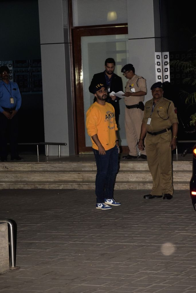 Actor Arjun Kapoor leaves for Switzerland to participate in the pre-wedding bash of Reliance Industries Chairman Mukesh Ambani's son Akash Ambani and diamantaire Russell Mehta's daughter ... - Arjun Kapoor, Mukesh Ambani, Akash Ambani and Shloka Mehta