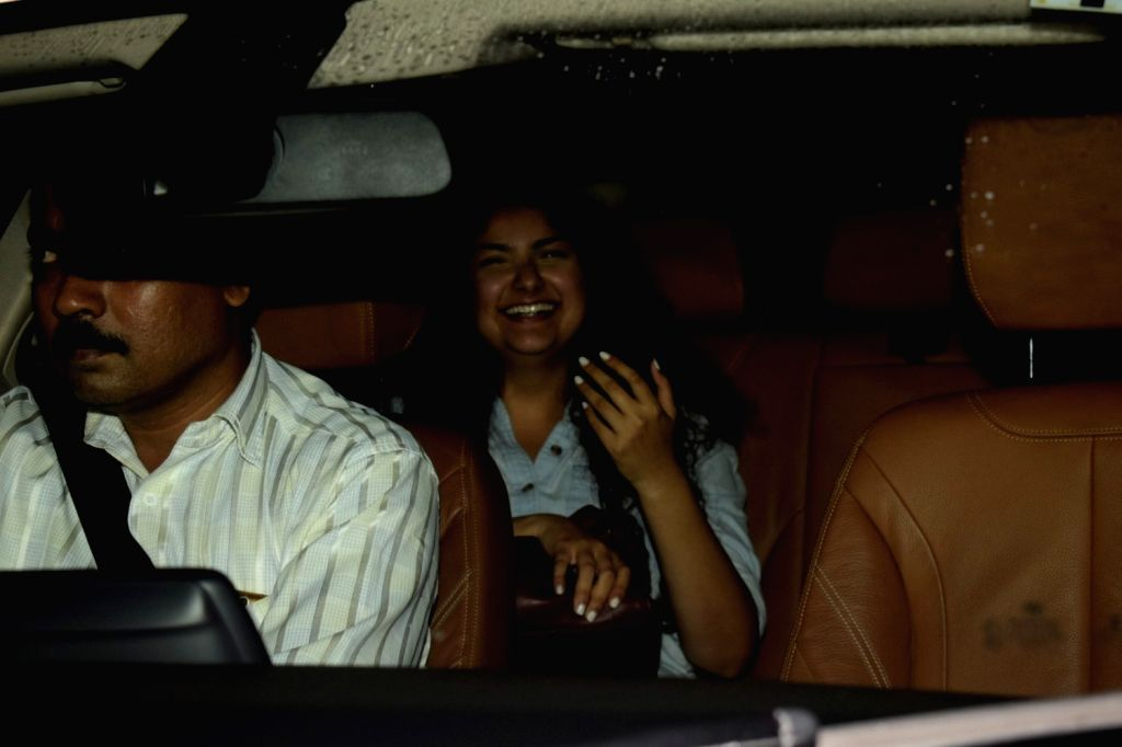 """Actor Arjun Kapoor's sister Anshula Kapoor at the special screening of film """"Dhadak"""" in Mumbai on July 19, 2018. - Arjun Kapoor and Anshula Kapoor"""