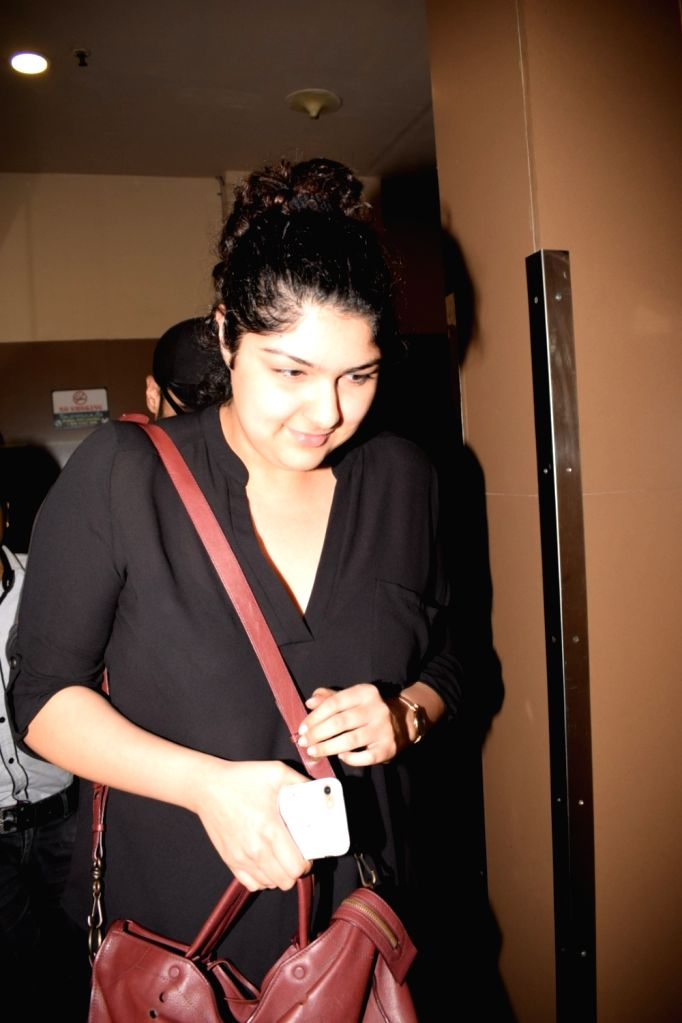 Actor Arjun Kapoor's sister Anshula Kapoor seen at cinema theater in Juhu, Mumbai on Feb 6, 2018. - Arjun Kapoor and Anshula Kapoor