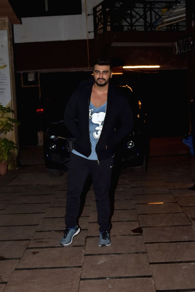 Actor Arjun Kapoor seen at a gym in Juhu, Mumbai on Nov 12, 2019. - Arjun Kapoor