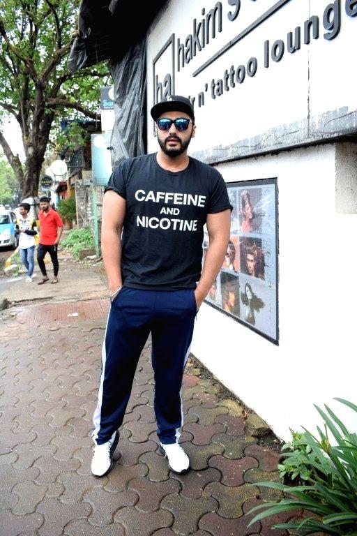 Actor Arjun Kapoor seen at a salon in Versova, Mumbai on Aug 9, 2018. - Arjun Kapoor