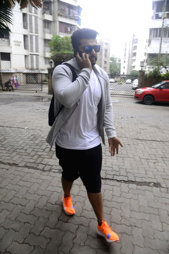 Actor Arjun Kapoor seen at filmmaker Karan Johar's residence in Mumbai on July 22, 2018. - Arjun Kapoor