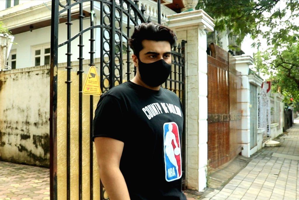 Actor Arjun Kapoor seen at Juhu in Mumbai on Oct 6, 2020. - Arjun Kapoor