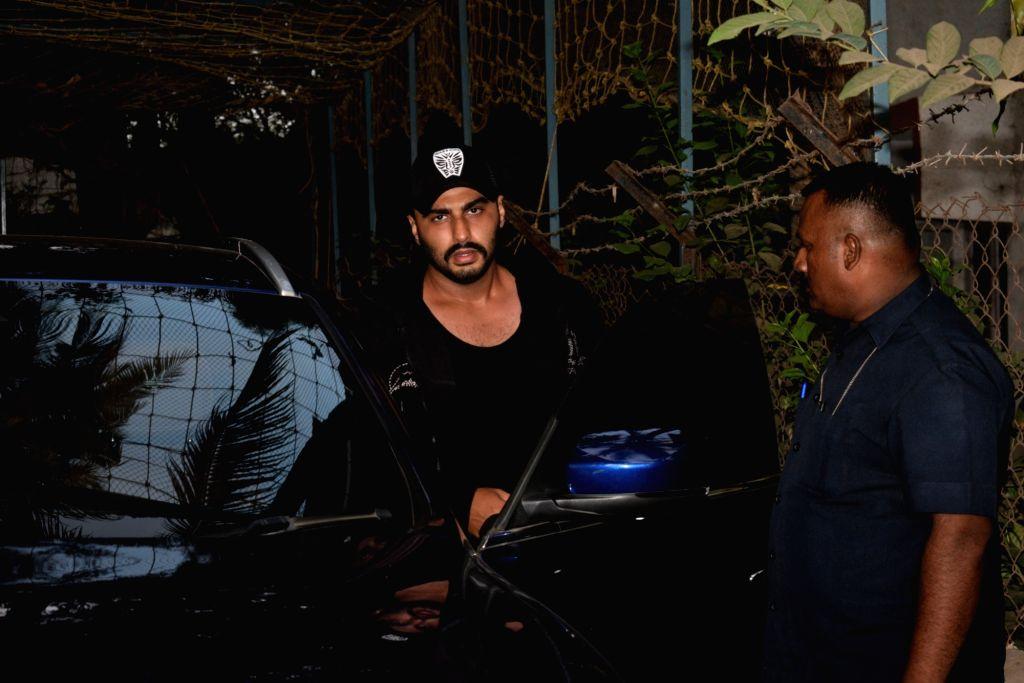 Actor Arjun Kapoor seen outside a dance class in Mumbai on June 4, 2019. - Arjun Kapoor
