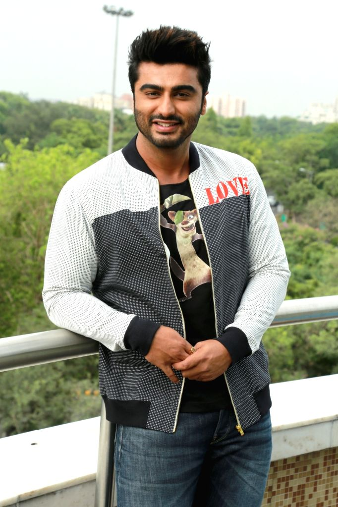 "Actor Arjun Kapoor, who is set do give voice for the character of Buck in the Hindi version of upcoming film ""Ice Age: Collision Course"" during a photo shoot in New Delhi, on ... - Arjun Kapoor"
