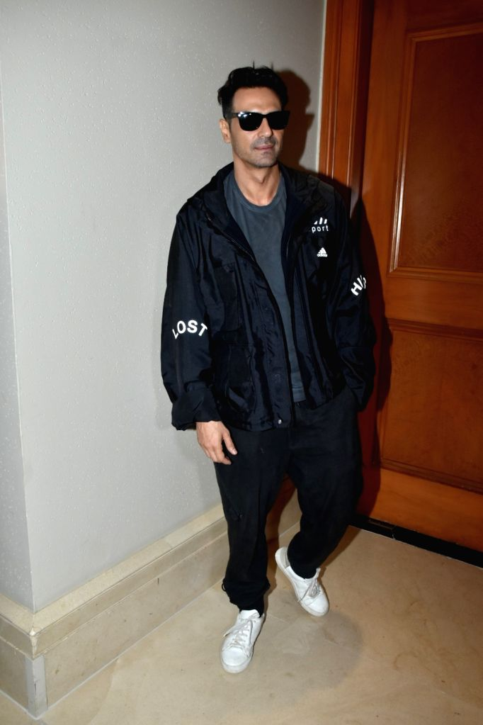 """Actor Arjun Rampal at the promotion of his upcoming web series """"The Final Call"""" in Mumbai, on Feb 18, 2019. - Arjun Rampal"""