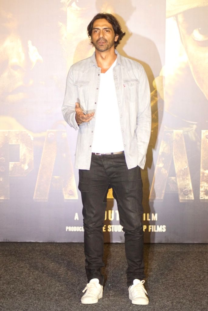 "Actor Arjun Rampal at the trailer launch of upcoming film ""Paltan"", in Mumbai on Aug 2, 2018. - Arjun Rampal"