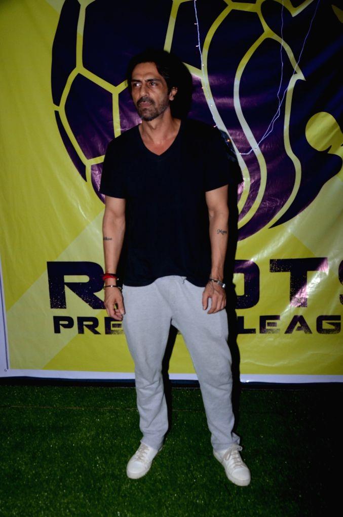 Actor Arjun Rampal during Roots Premier League 2018 in Mumbai on Sept 8, 2018. - Arjun Rampal