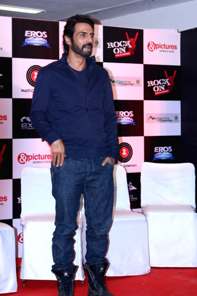 Actor Arjun Rampal during the music launch of the movie Rock On 2 in Mumbai on Sept. 17, 2016. - Arjun Rampal