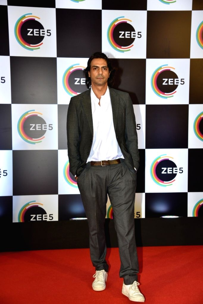 Actor Arjun Rampal on the red carpet of Zee5's first anniversary celebrations in Mumbai, on Feb 14, 2019. - Arjun Rampal