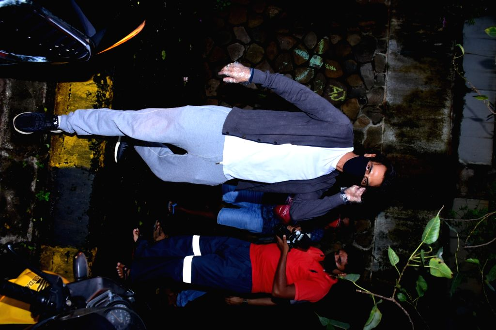 Actor Arjun Rampal spotted at Hakim Alim salon in Mumbai's Bandra on July 30, 2020. - Arjun Rampal