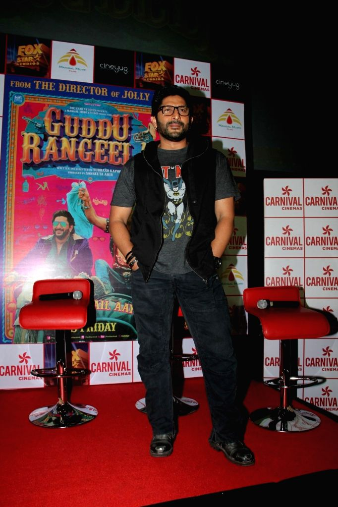 Actor Arshad Warsi during the promotion of film Guddu Rangeela at the launch of Carnival Cinemas new multiplex in Mumbai on July 2, 2015. - Arshad Warsi