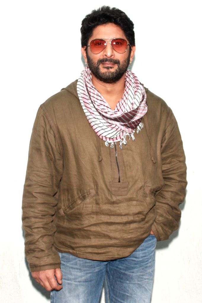 Actor Arshad Warsi during the promotion of his upcoming film 'The Legend of Michael Mishra' in Noida on Aug 1, 2016. - Arshad Warsi and Mishra