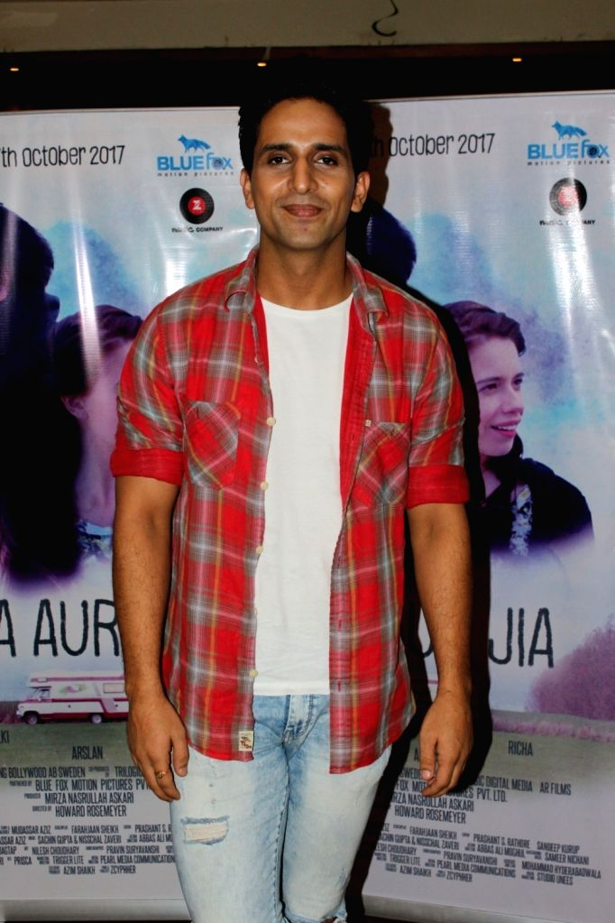 "Actor Arslan Goni during the promotiona of his upcoming film ""Jia Aur Jia"" in Mumbai on Oct 12, 2017. - Arslan Goni"