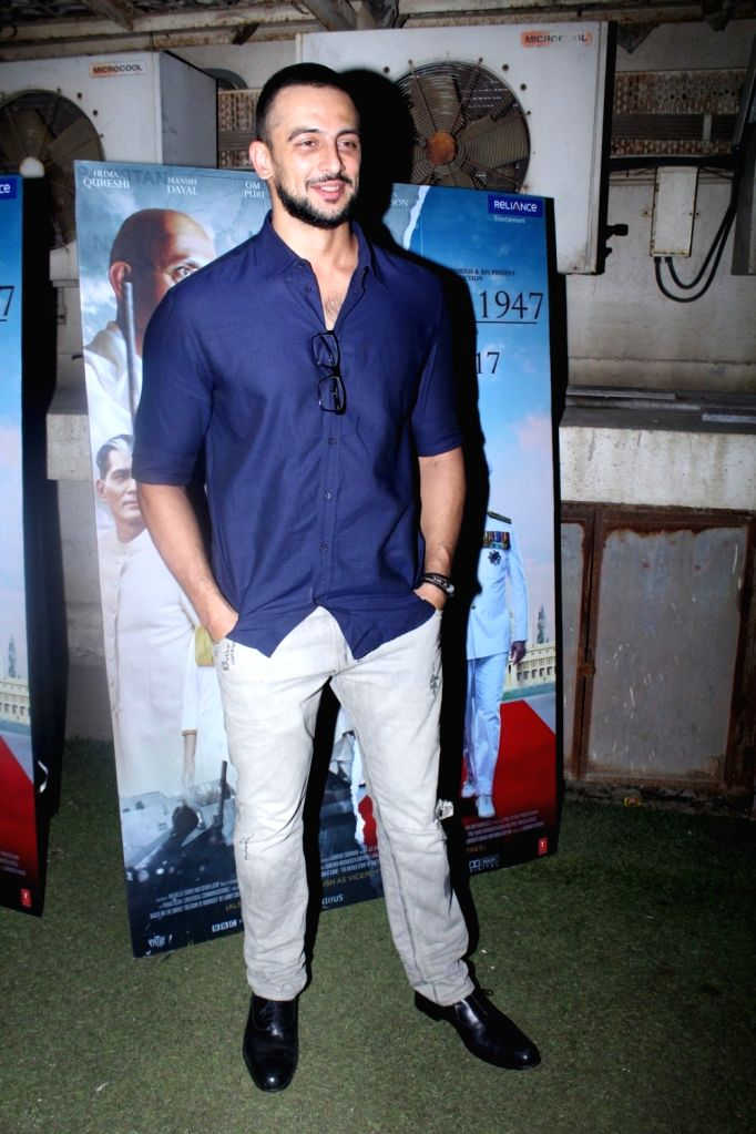 """Actor Arunoday Singh during the special screening of film """"Partition: 1947"""" in Mumbai on Aug 17, 2017. - Arunoday Singh"""