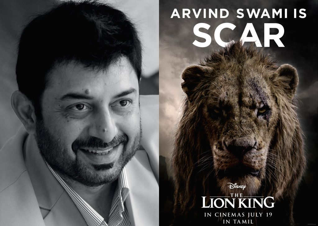 """Actor Arvind Swami is back into the world of """"The Lion King"""", but this time as villainous Scar. Disney India has roped in Arvind to voice the character of Scar in the Tamil version of the live-action film """"The Lion King"""". - Arvind Swami"""