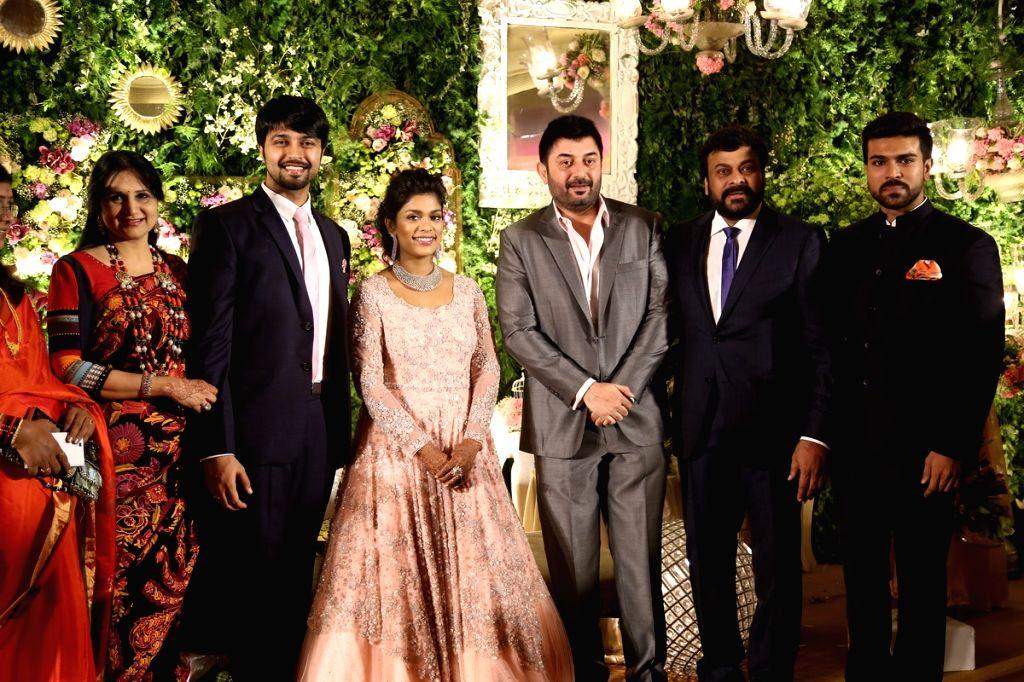 Actor Arvind Swamy at Chiranjeevi daughter Srija Wedding Reception. - Arvind Swamy
