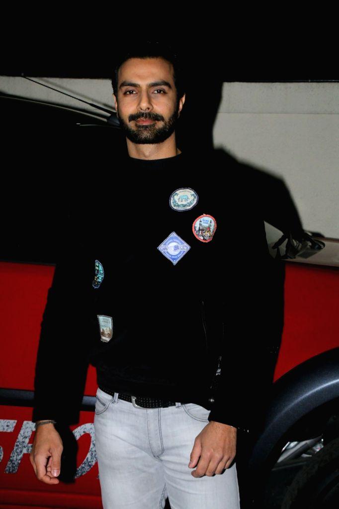 """Actor Ashmit Patel at the special screening of film """"Nirdosh"""" in Mumbai on Jan 18, 2018. - Ashmit Patel"""
