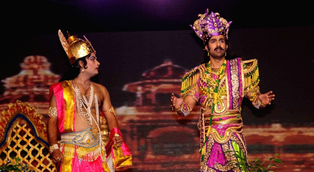 Actor Ashmit Patel performs during Ramleela at Luv Kush Ramlila Committee in New Delhi on Oct 5, 2016. - Ashmit Patel