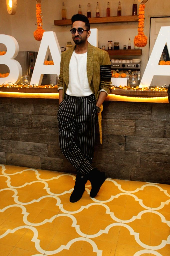 "Actor Ayushmann Khurrana at Diwali brunch during the promotions of his upcoming film ""Bala"" in Mumbai on Oct 25, 2019. - Ayushmann Khurrana"