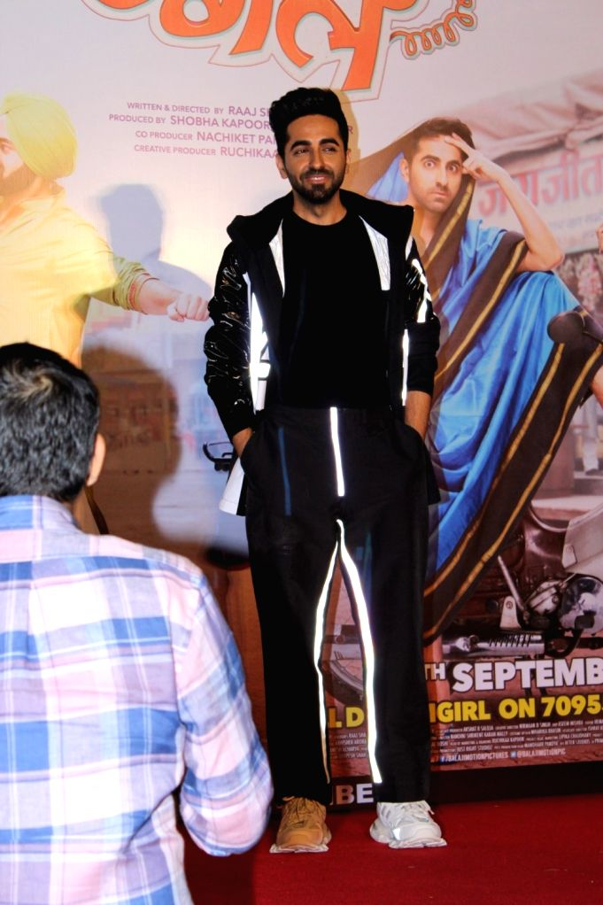 "Actor Ayushmann Khurrana at the trailer launch of film ""Dream Girl"" in Mumbai on Aug 12, 2019. - Ayushmann Khurrana"