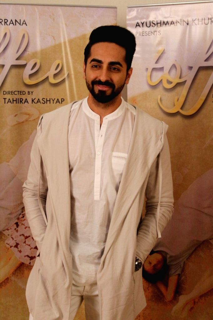 "Actor Ayushmann Khurrana during an interview for film ""Toffee"" in Mumbai on Oct 12, 2017. - Ayushmann Khurrana"