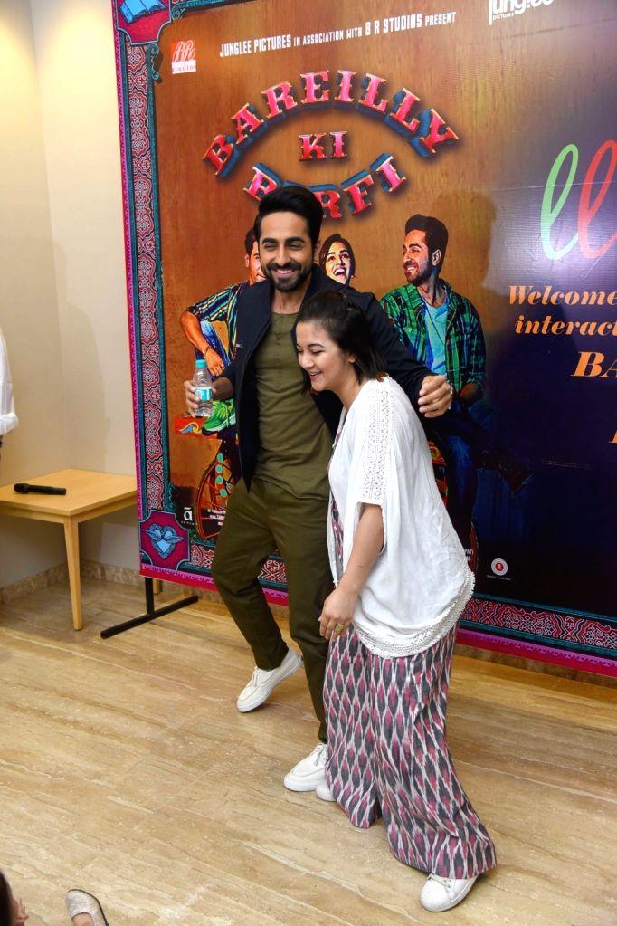 "Actor Ayushmann Khurrana during the promotion of his upcoming film ""Bareilly Ki Barfi"" in New Delhi on Aug 5, 2017. - Ayushmann Khurrana"