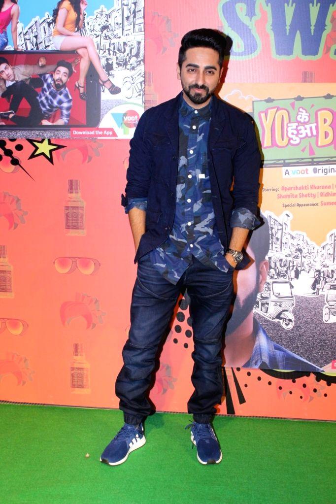 "Actor Ayushmann Khurrana during the special screening of  web-series ""Yo Ke Hua Bro"" in Mumbai on Aug 16, 2017. - Ayushmann Khurrana"