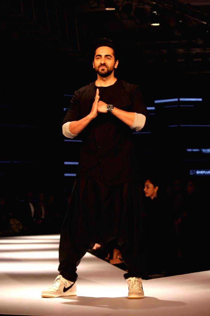 Actor Ayushmann Khurrana during the Van Heusen GQ Fashion Nights 2015 Day 2 in Mumbai on Dec 2, 2015. - Ayushmann Khurrana