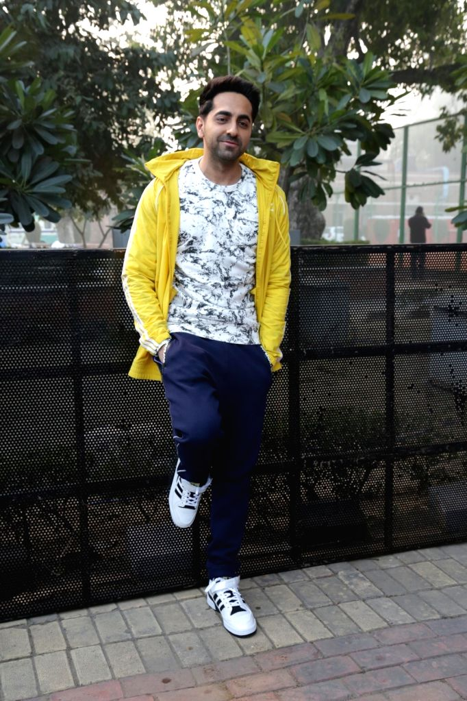 Actor Ayushmann Khurrana during Walk for Health in New Delhi on Feb 18, 2018. - Ayushmann Khurrana