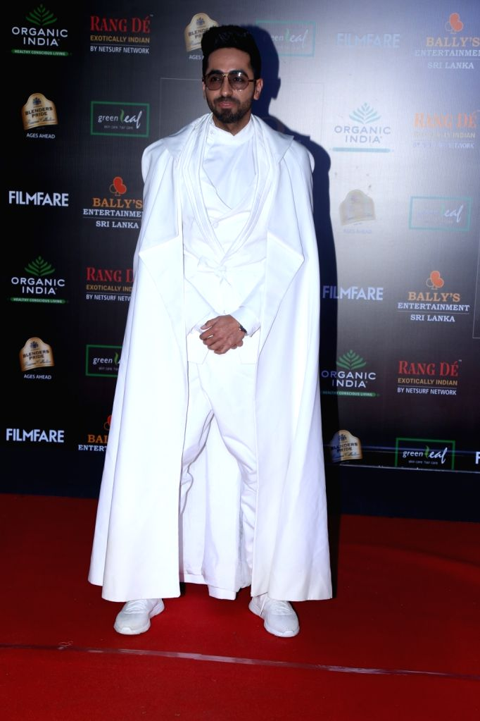 Actor Ayushmann Khurrana on the red carpet of Filmfare Glamour And Style Awards 2019 in Mumbai on Dec 3, 2019. - Ayushmann Khurrana