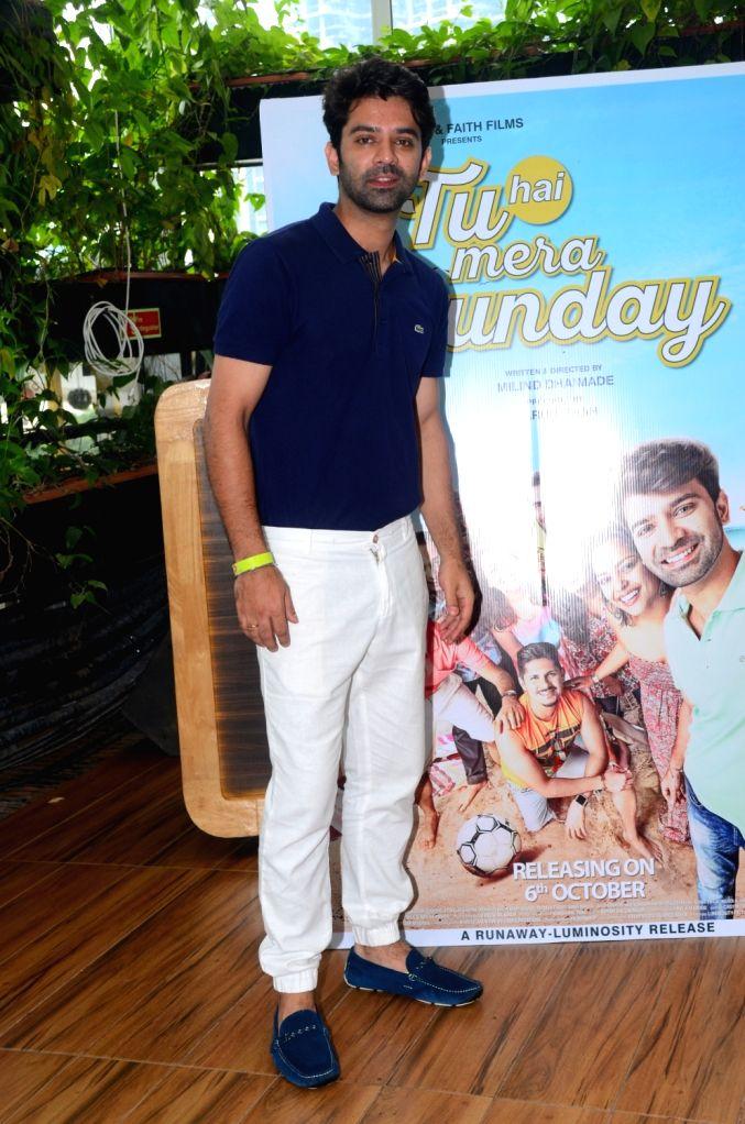 """Actor Barun Sobti during the promotion of his upcoming film """"Tu Hai Mera Sunday"""" in Mumbai on Sept 17, 2017. - Barun Sobti"""