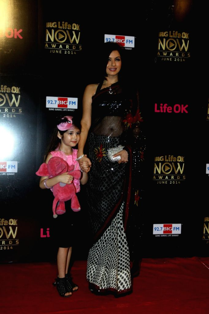 Actor Bhagyashree Patwardhan during the Big Life OK Now Award 2014 in Mumbai on June 23, 2014. - Bhagyashree Patwardhan