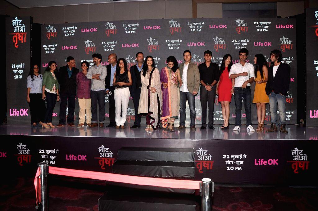 Actor Bhagyashree Patwardhan will return to the small screen with Life OK`s new offering Laut Aao Trisha in Mumbai on July 16, 2014. - Bhagyashree Patwardhan