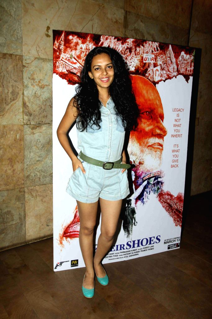 Actor Bidita Bag during the screening of film In Their Shoes in Mumbai, on March 10, 2015. - Bidita Bag