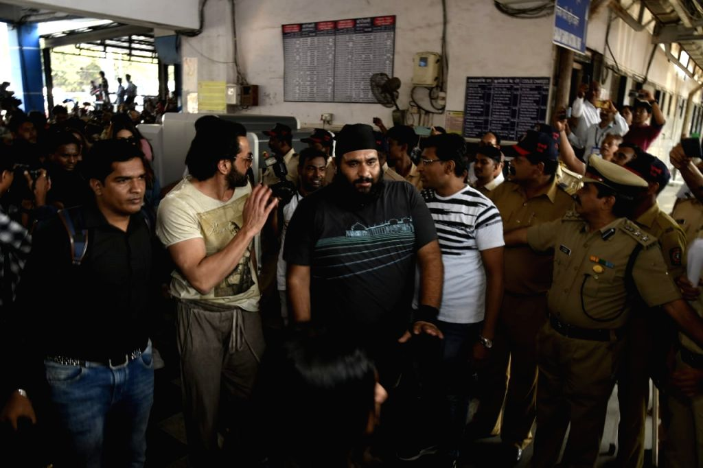 """Actor Bobby Deol arrives at Borivali railway station to travel by a special promotional train from Mumbai to Delhi as part of 'Housefull4Express' rail journey during """"Housefull 4"""" ... - Bobby Deol"""