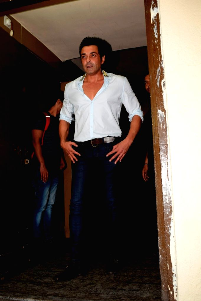 """Actor Bobby Deol at the special screening of his upcoming film """"Race 3"""" in Mumbai on June 12, 2018. - Bobby Deol"""