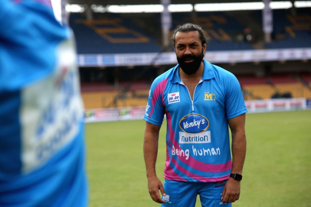 Actor Bobby Deol during the Celebrity Cricket League (CCL) match played between Mumbai Heroes vs Punjab De Sher in Bengaluru on Jan 23, 2016. - Bobby Deol