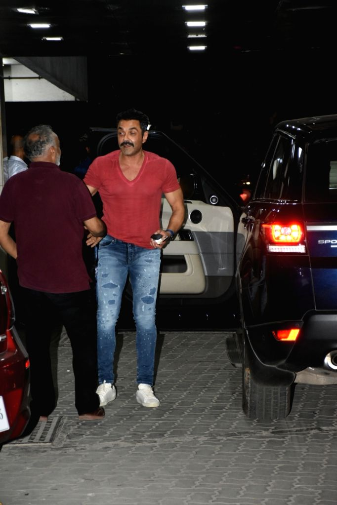 Actor Bobby Deol seen outside actor Sohail Khan's house in Mumbai, on May 12, 2019. - Bobby Deol and Sohail Khan