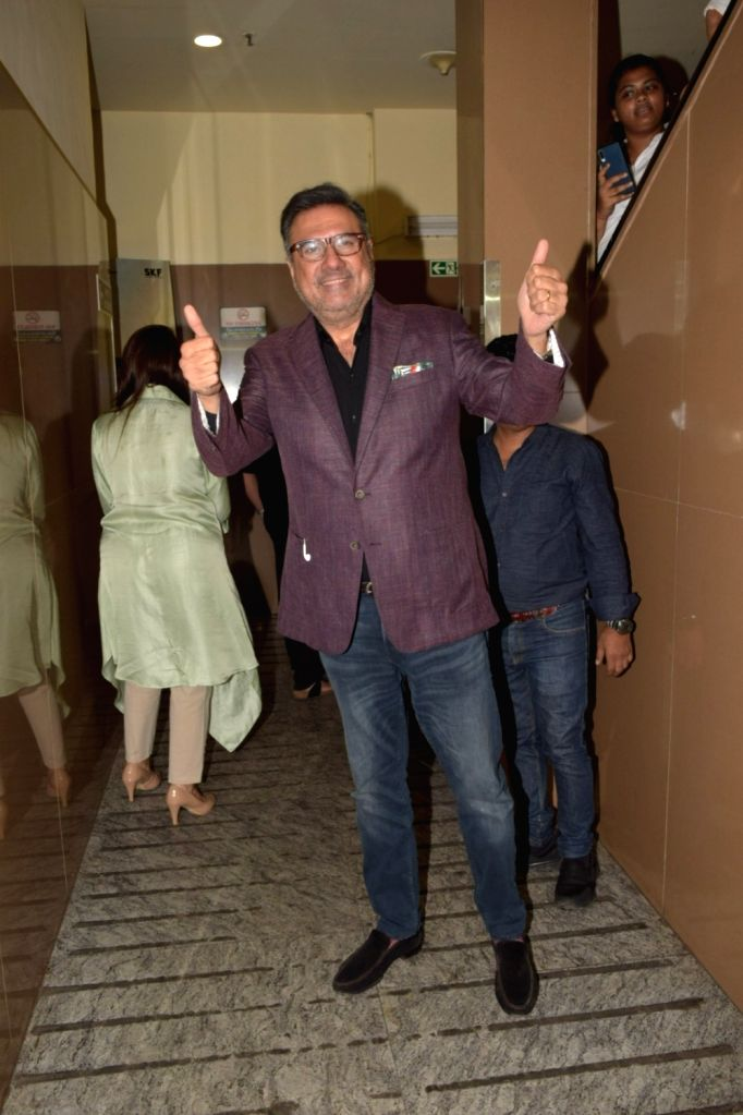 "Actor Boman Irani at the screening of the upcoming film ""Made in China"" in Mumbai on Oct 24, 2019. - Boman Irani"