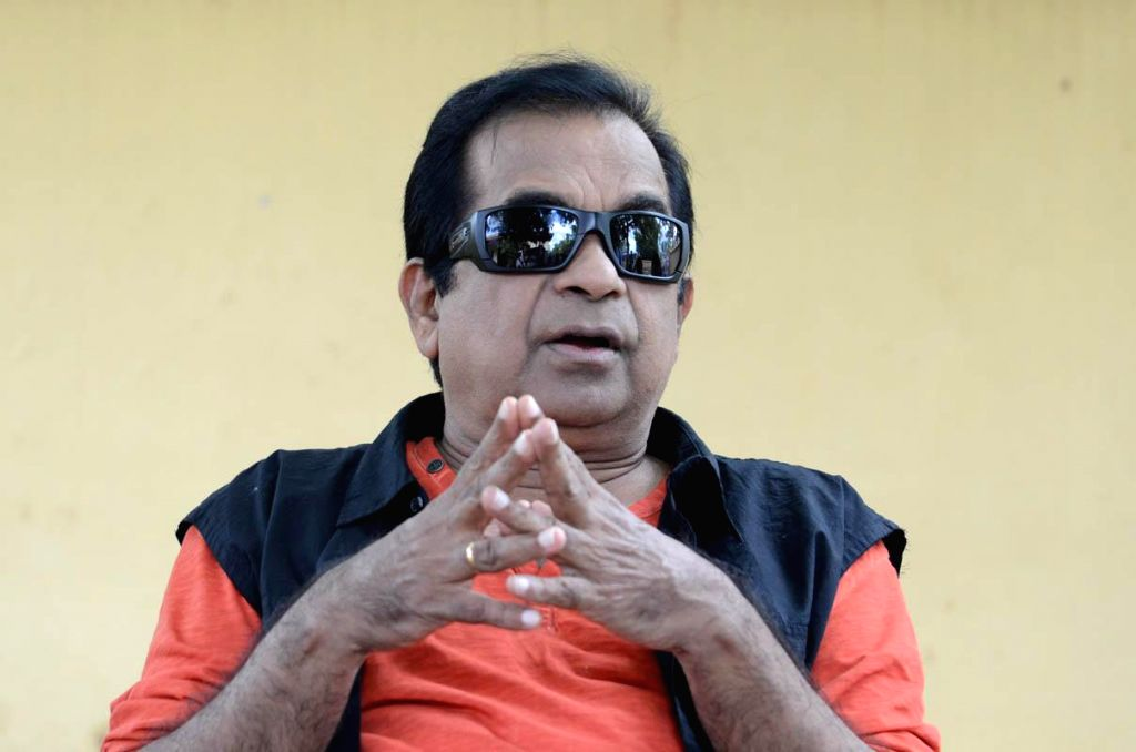 Actor Brahmanandam talking about telugu movie Alludu Seenu. (Photo: IANS).