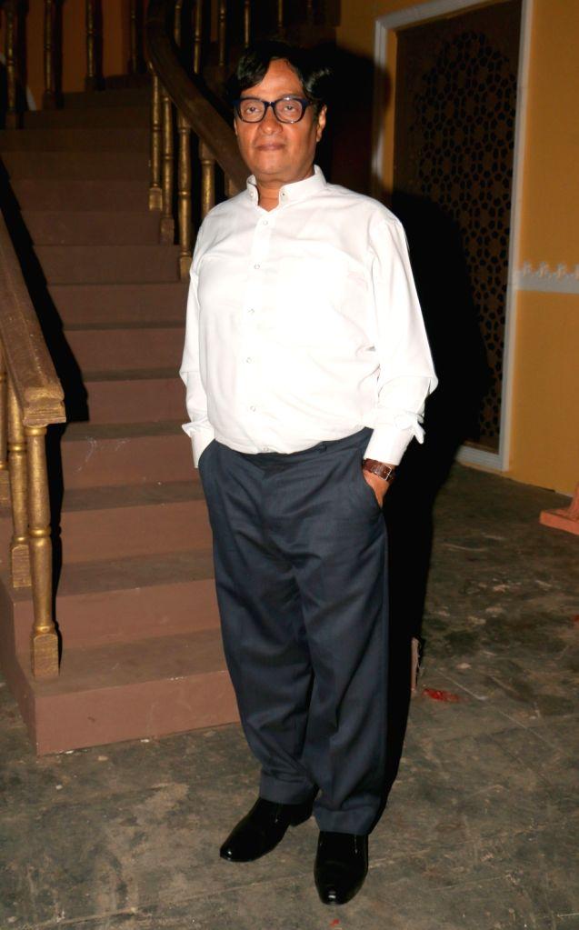 "Actor Brijendra Kala during the on location shoot of film ""Dhappa"", in Mumbai on July 3, 2017. - Brijendra Kala"