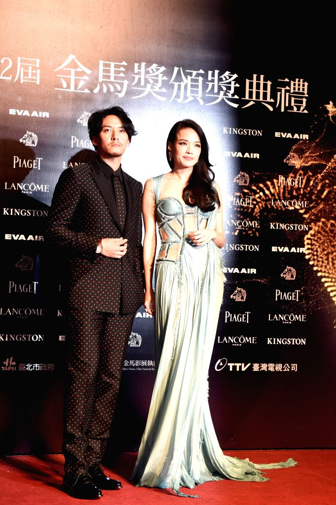 """Actor Chang Chen and actress Shu Qi of movie """"The Assassin"""" arrive for the 52nd Golden Horse Awards in Taipei, southeast China's Taiwan, Nov. 21, 2015. The ... - Chang Chen"""