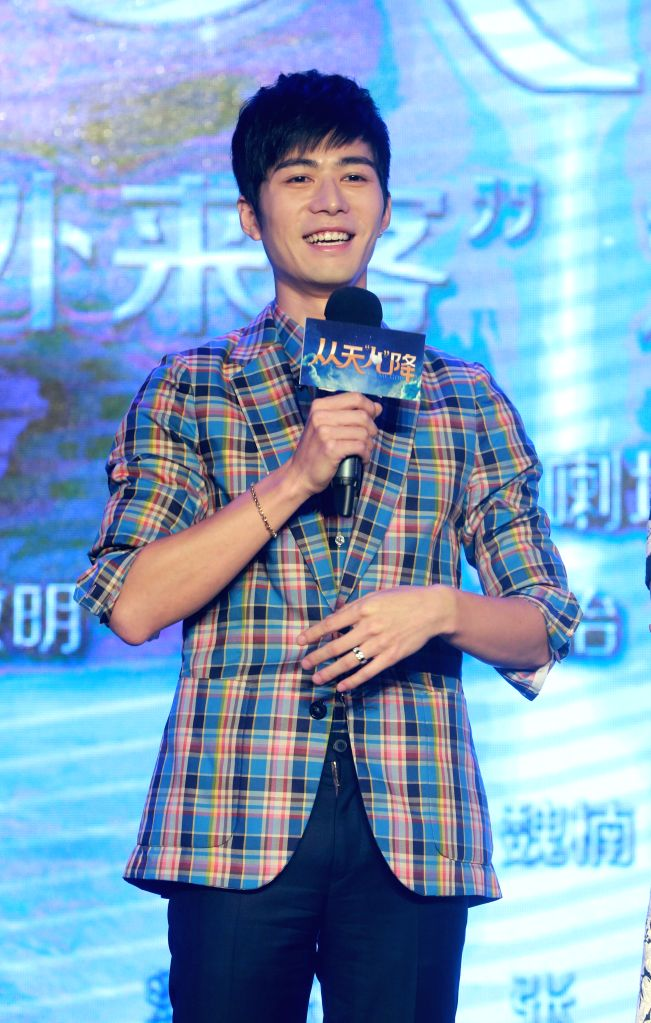 """Actor Chen Xuedong attends a press conference of the movie """"The Baby From Universe"""" in Beijing, capital of China, Agu. 4, 2015. The movie will be released ... - Chen Xuedong"""