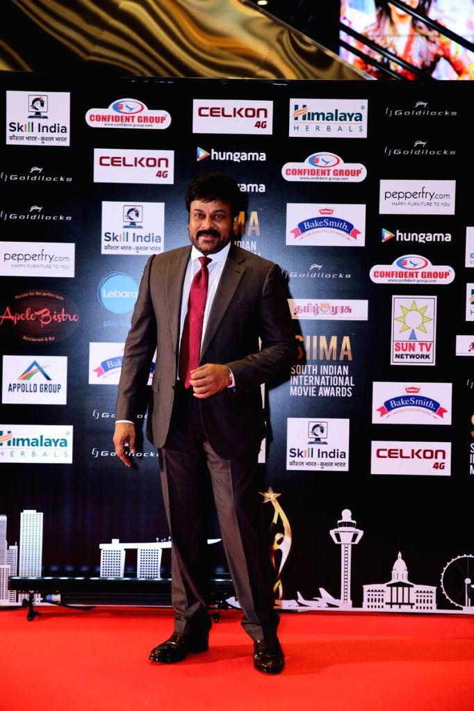 Actor Chiranjeevi at SIIMA Awards 2016. - Chiranjeevi
