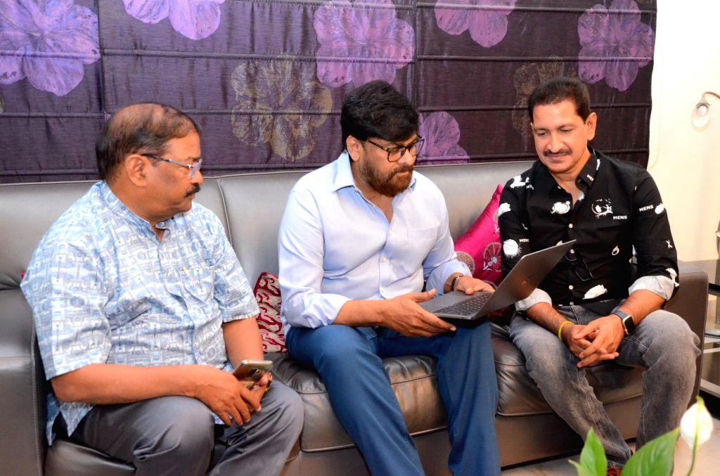 "Actor Chiranjeevi at the teaser launch of his upcoming film ""Kousalya Krishnamurthy"" in Hyderabad on June 18, 2019. - Chiranjeevi"
