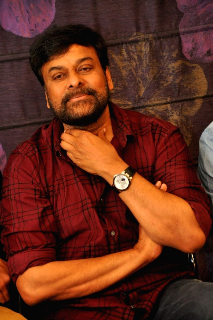 Actor Chiranjeevi during a programme in Hyderabad on Feb 16, 2018. - Chiranjeevi