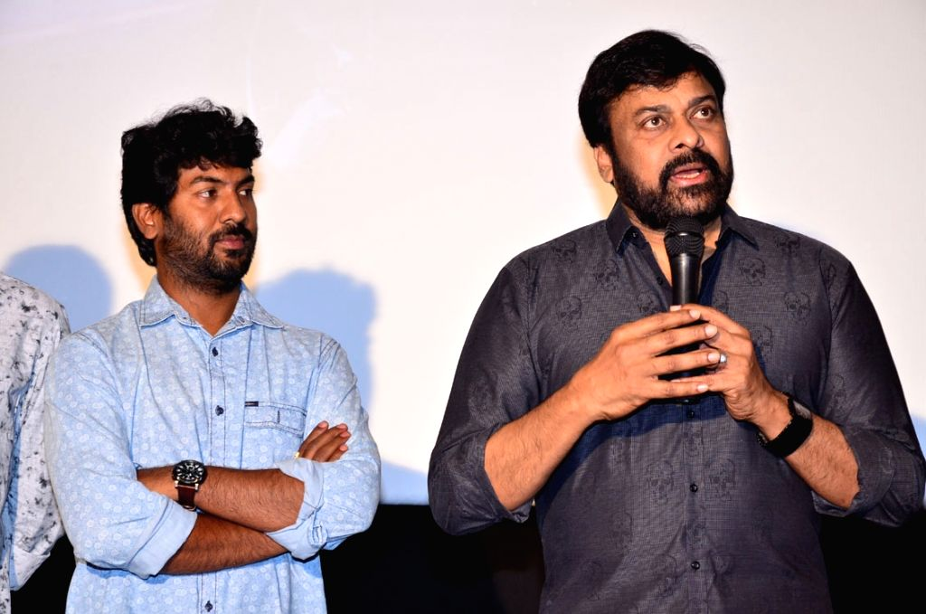 Actor Chiranjeevi during DSP Australia - Newzealand Tour Promo Video Launch. - Chiranjeevi
